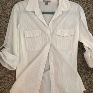 James Peres Button Down Fitted Top
